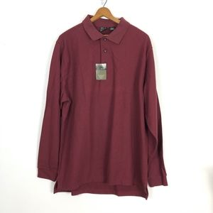 Jos A Banks Travelers Collection Polo Shirt Sz L